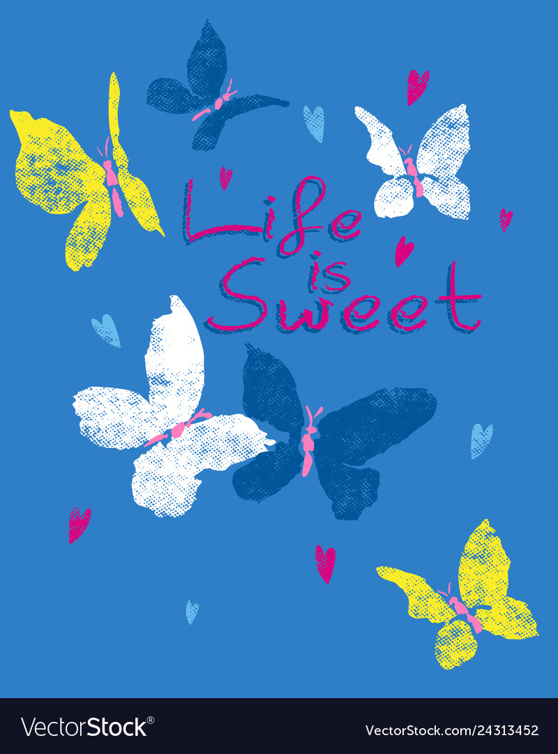 Sweet butterfly vector