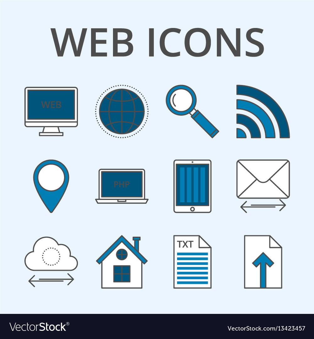 A set linear icons