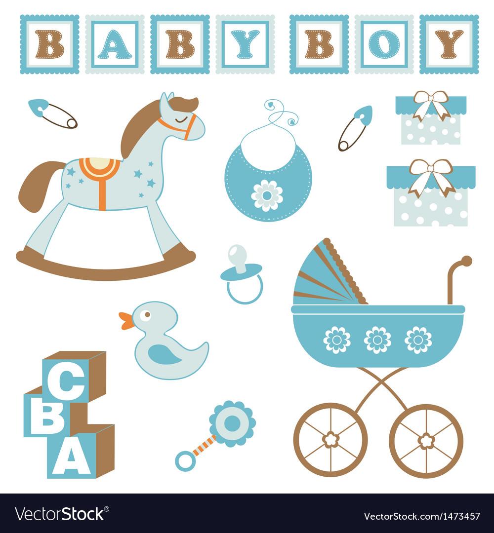 Baby Boy Toys Royalty Free Vector Image Vectorstock