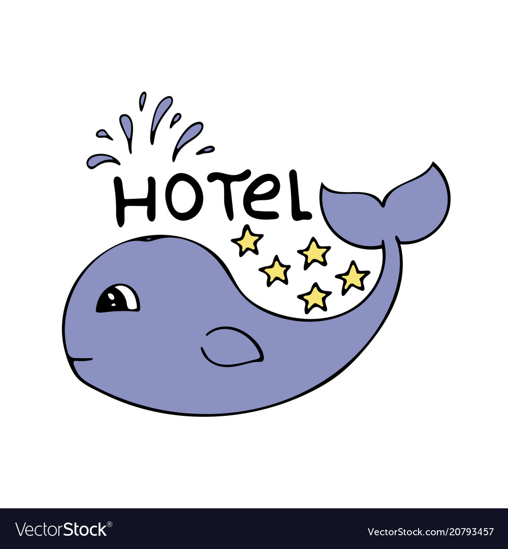 Banner for 5 star hotel with cute hand-drawn