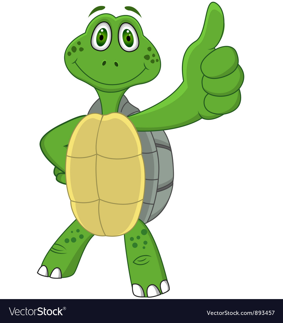 Cute funny turtle cartoon vector image