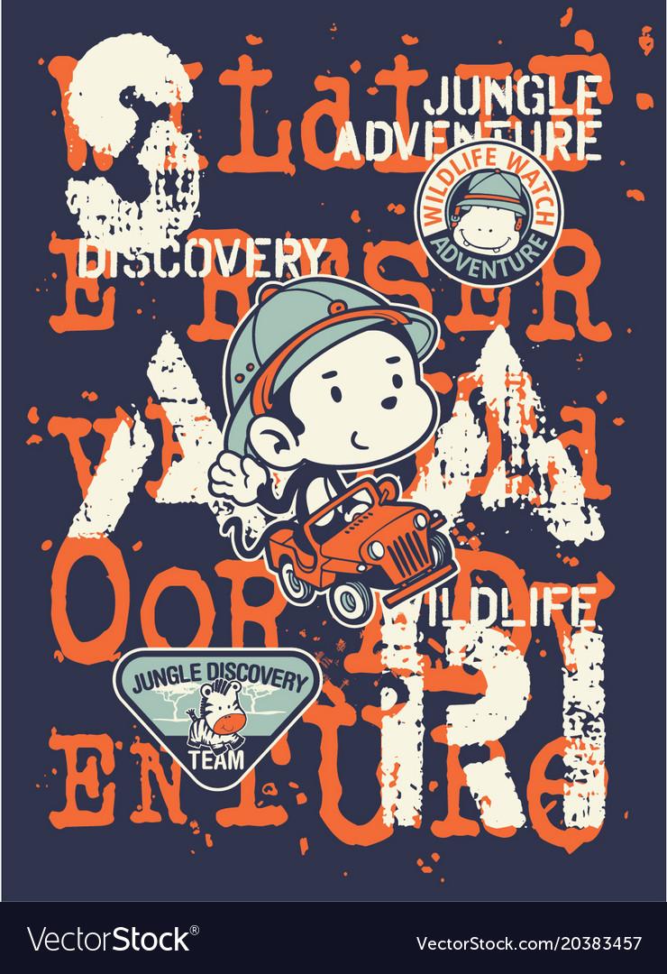 Kids discovery team jungle safari adventure