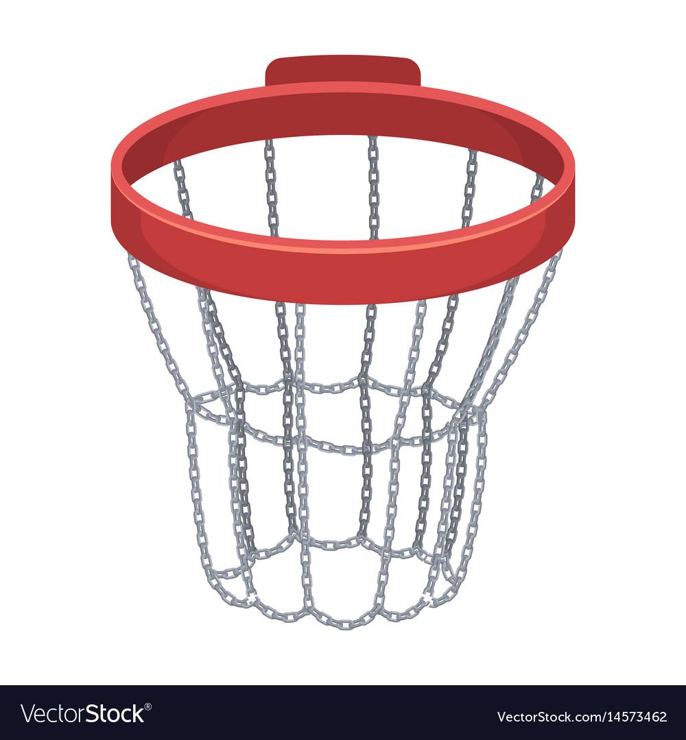 Basketball hoopbasketball single icon in cartoon