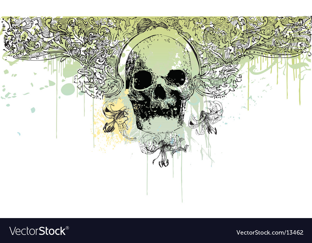 Grunge skull illustration