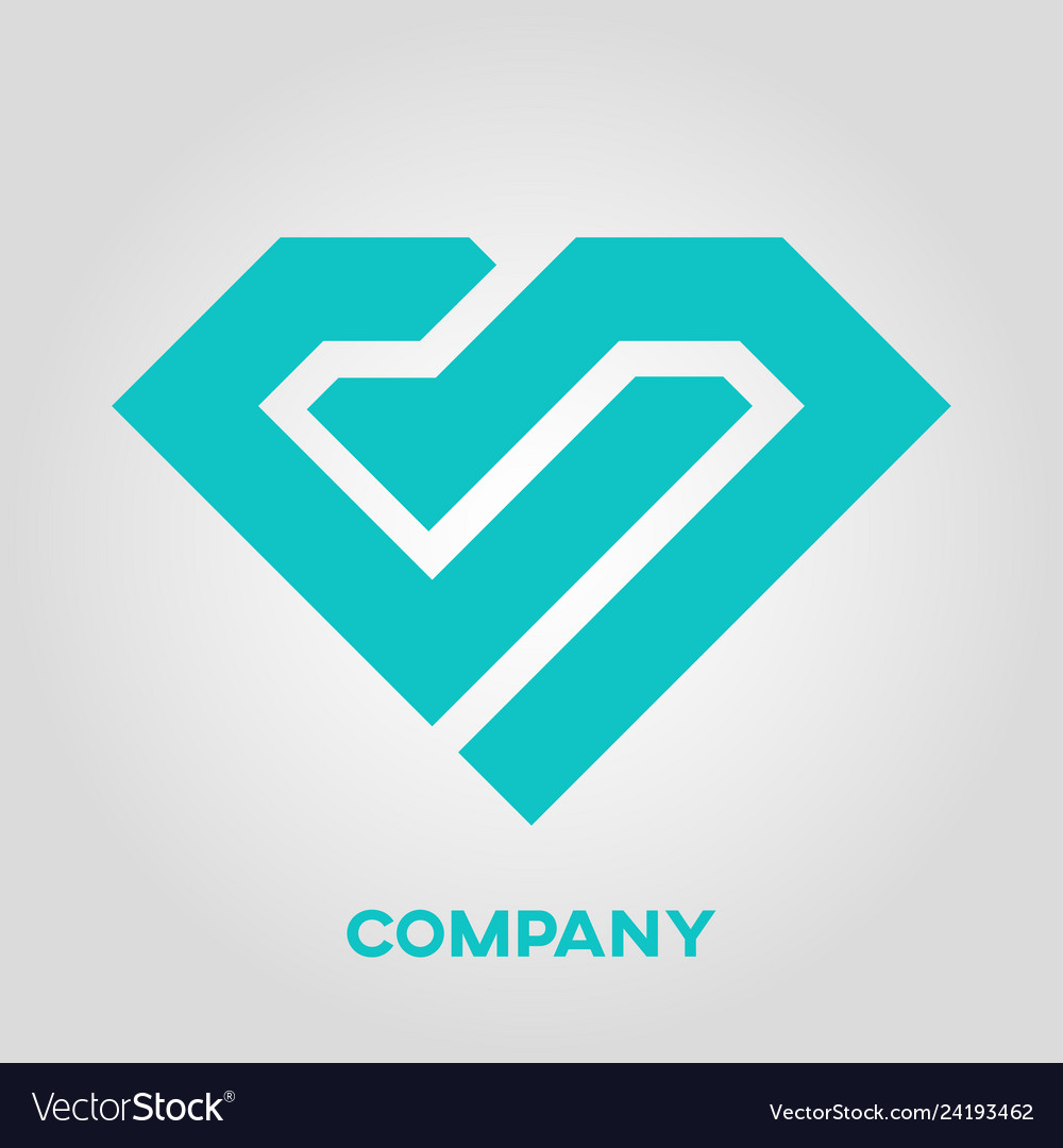 Letter cb diamond logo