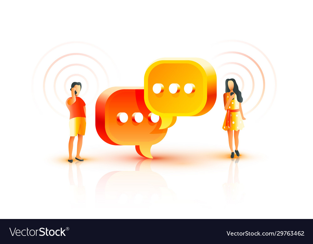 People communicate mobile phone chat with each