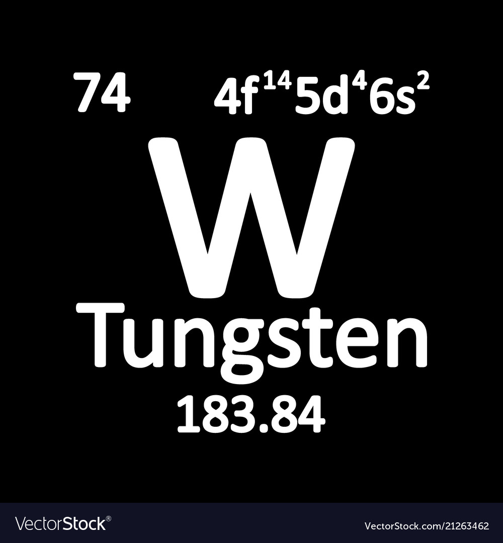 Periodic Table Element Tungsten Icon Royalty Free Vector