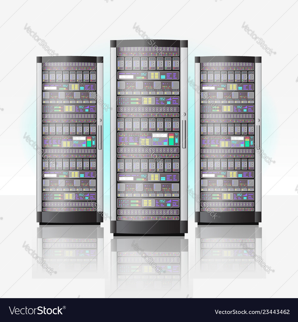 Server room hosting data center cloud database