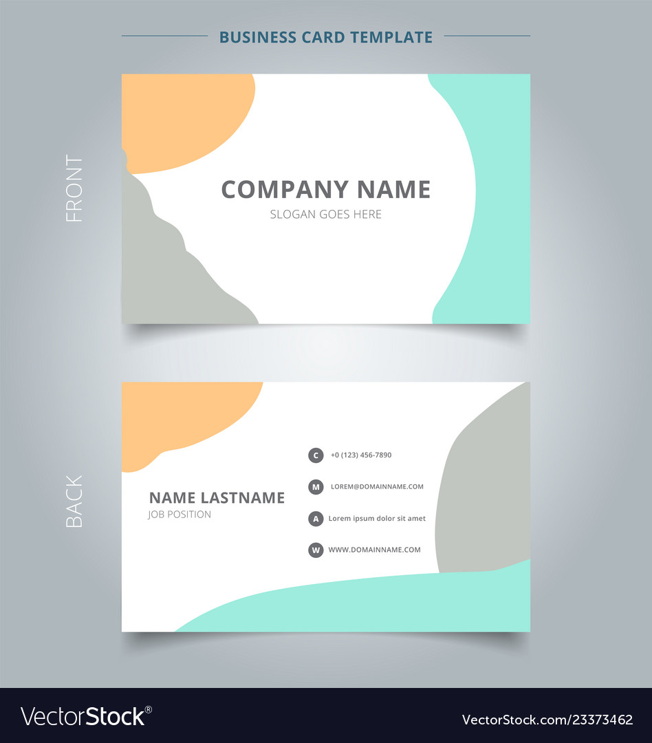 Trendy abstract business name card template