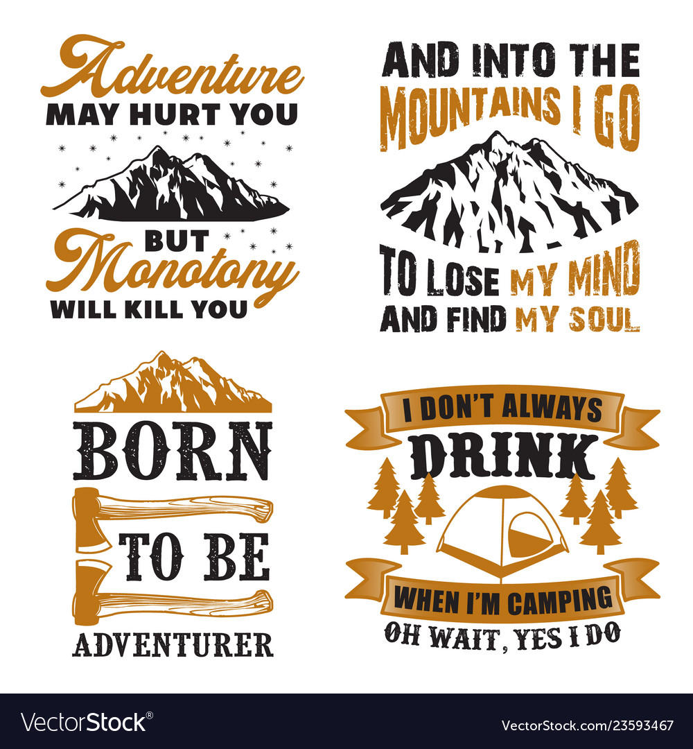 Adventure quote and saying set good for print