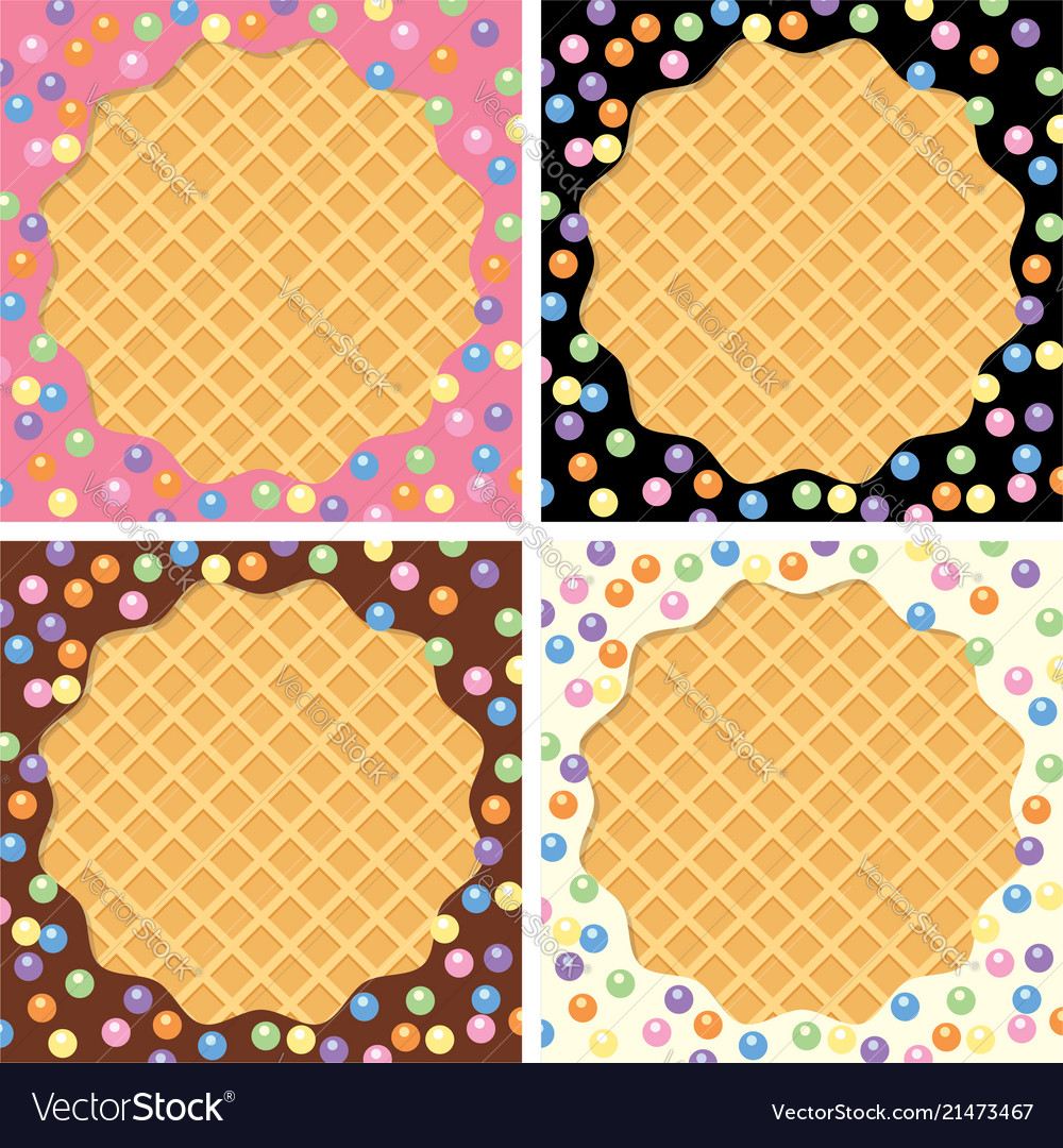 Background collection of wafer and cream with