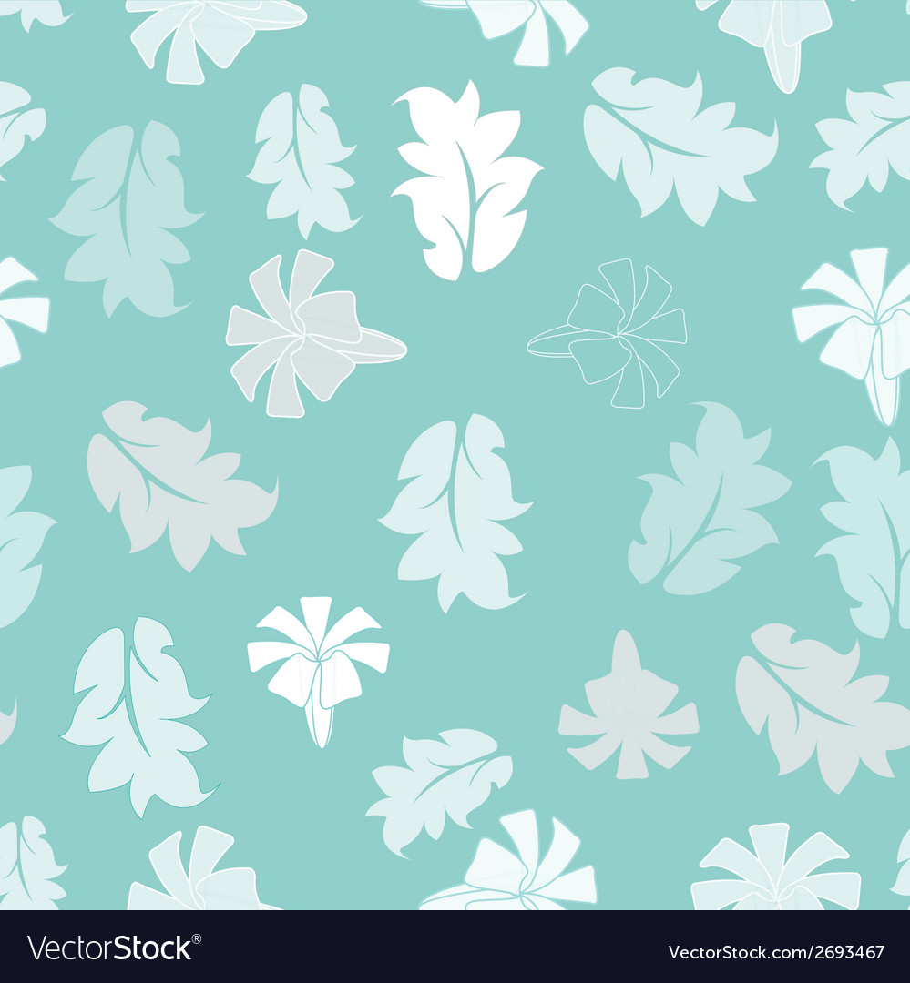 Blue flower seamless pattern