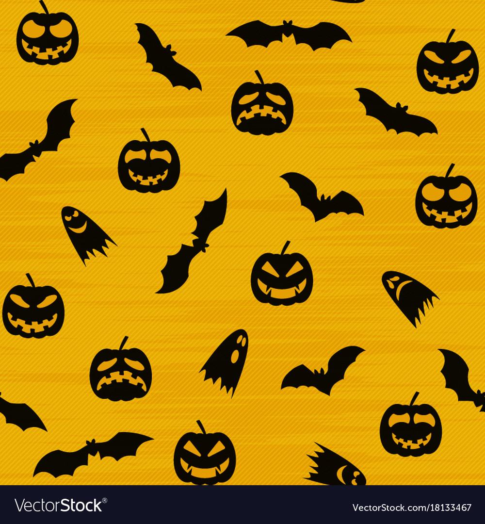 Halloween orange festive seamless pattern endless