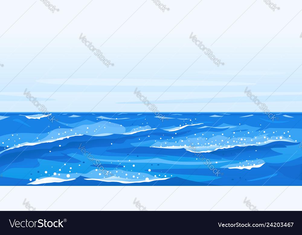 Ocean waves nature background