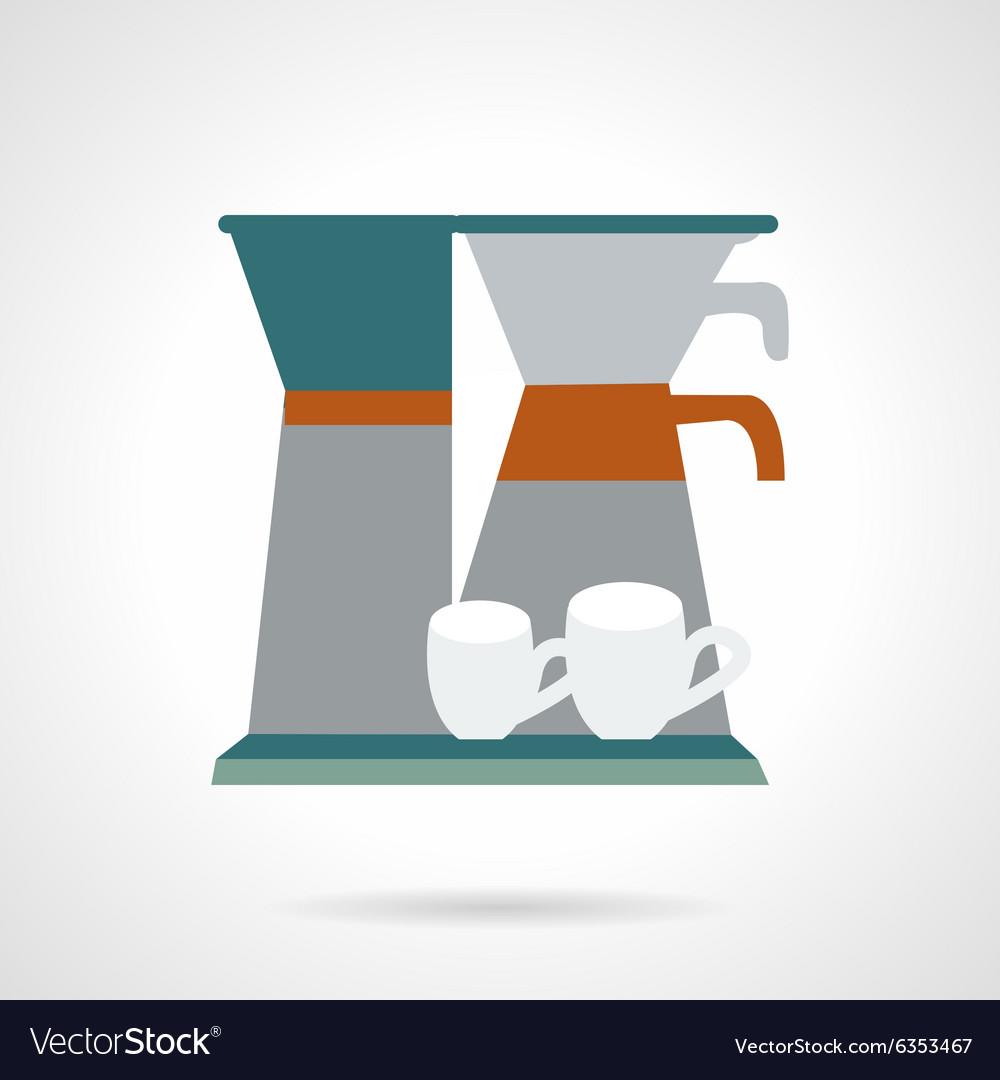 Office coffee maker flat icon