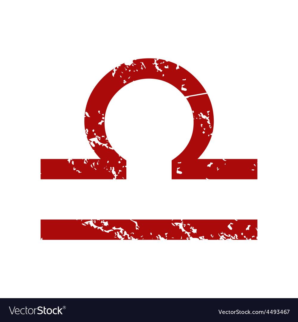 red grunge libra logo royalty free vector image rh vectorstock com libra logistics libra log basket