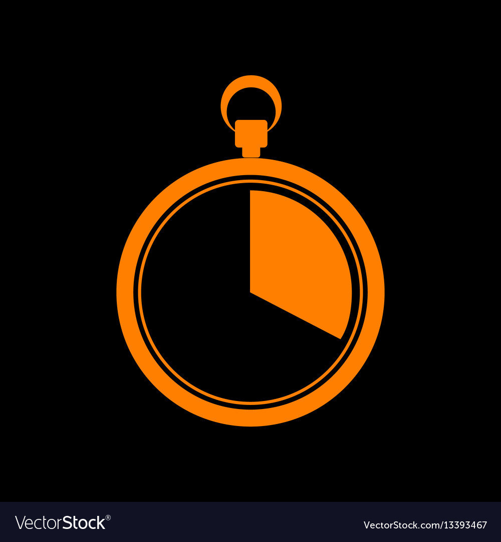 The 20 seconds minutes stopwatch sign orange
