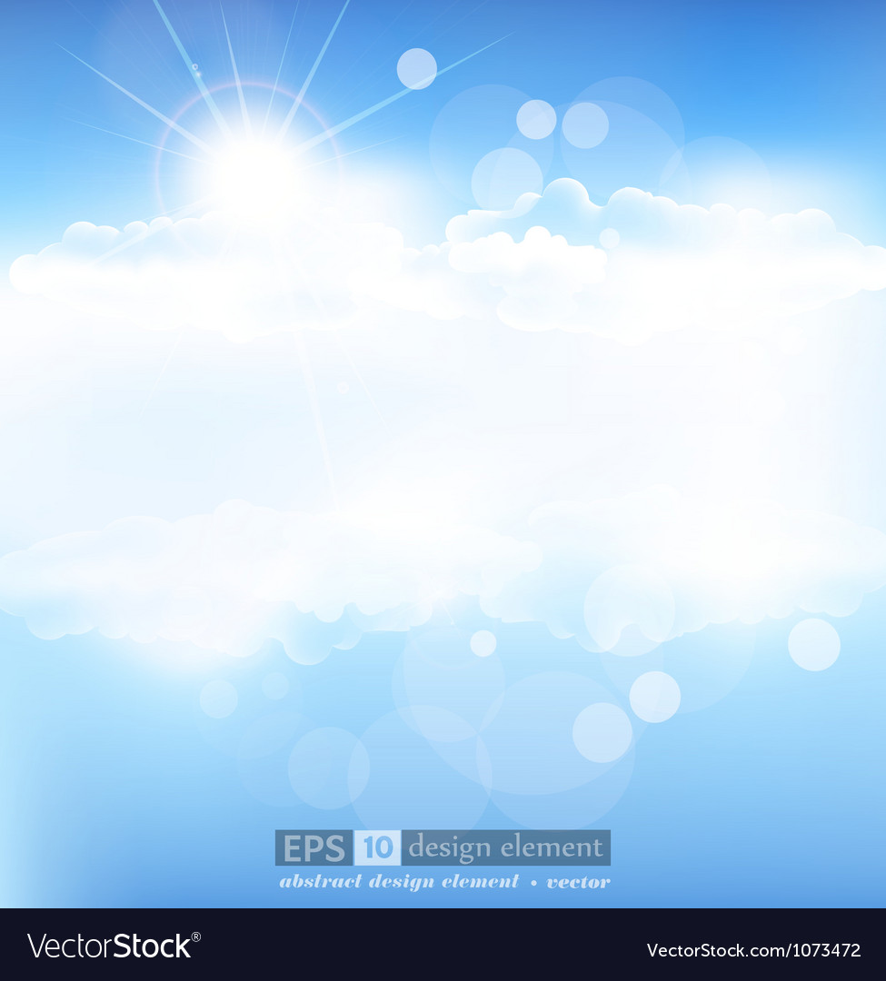 Background with blue sky