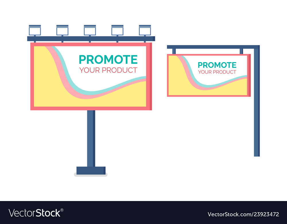 Billboard promote product hanging canvas