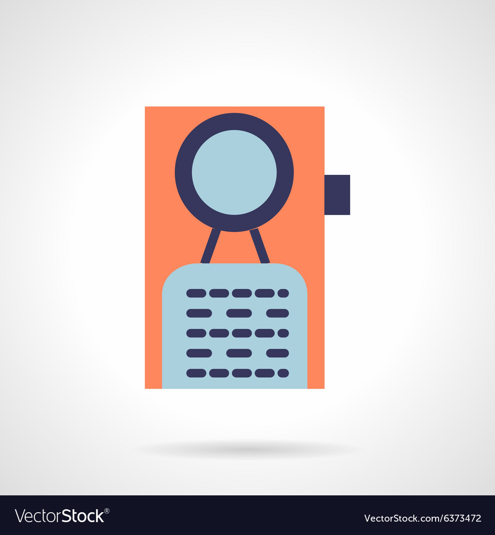 Door knob flat icon vector image