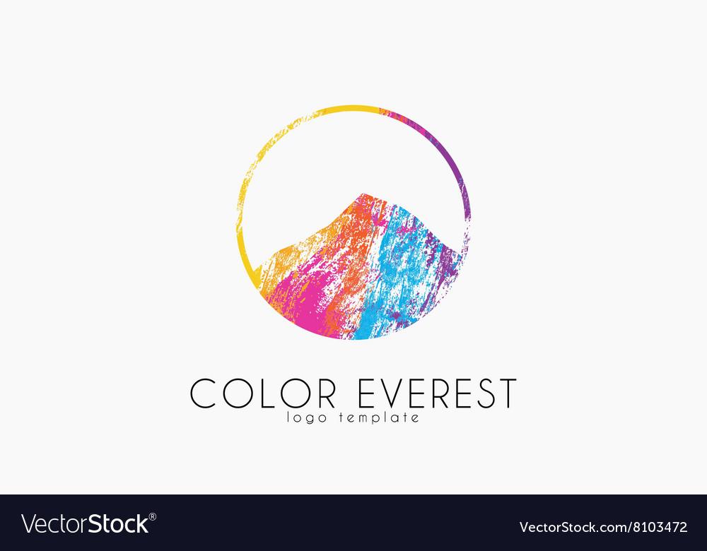 Everest logo Color everest Mountain logo Color