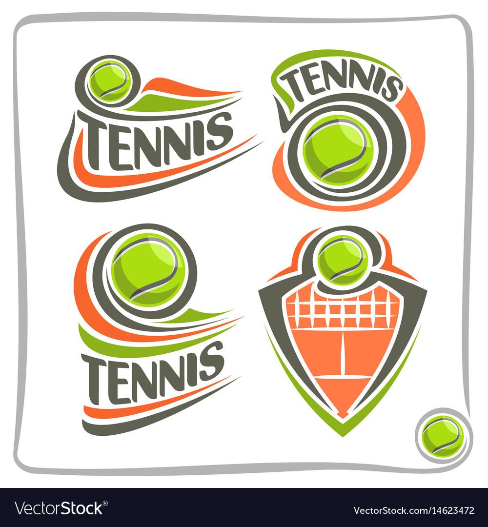 Logo Lawn Tennis Ball Royalty Free Vector Image