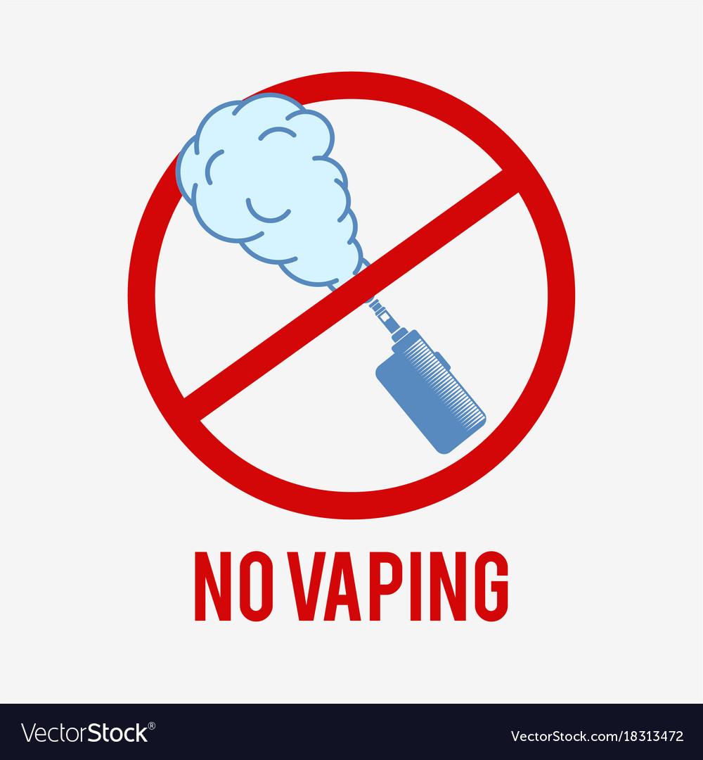 No vaping symbol