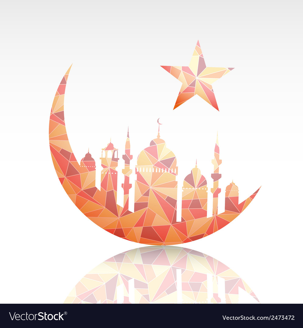 Ramadan Greeting Card Design Element Royalty Free Vector