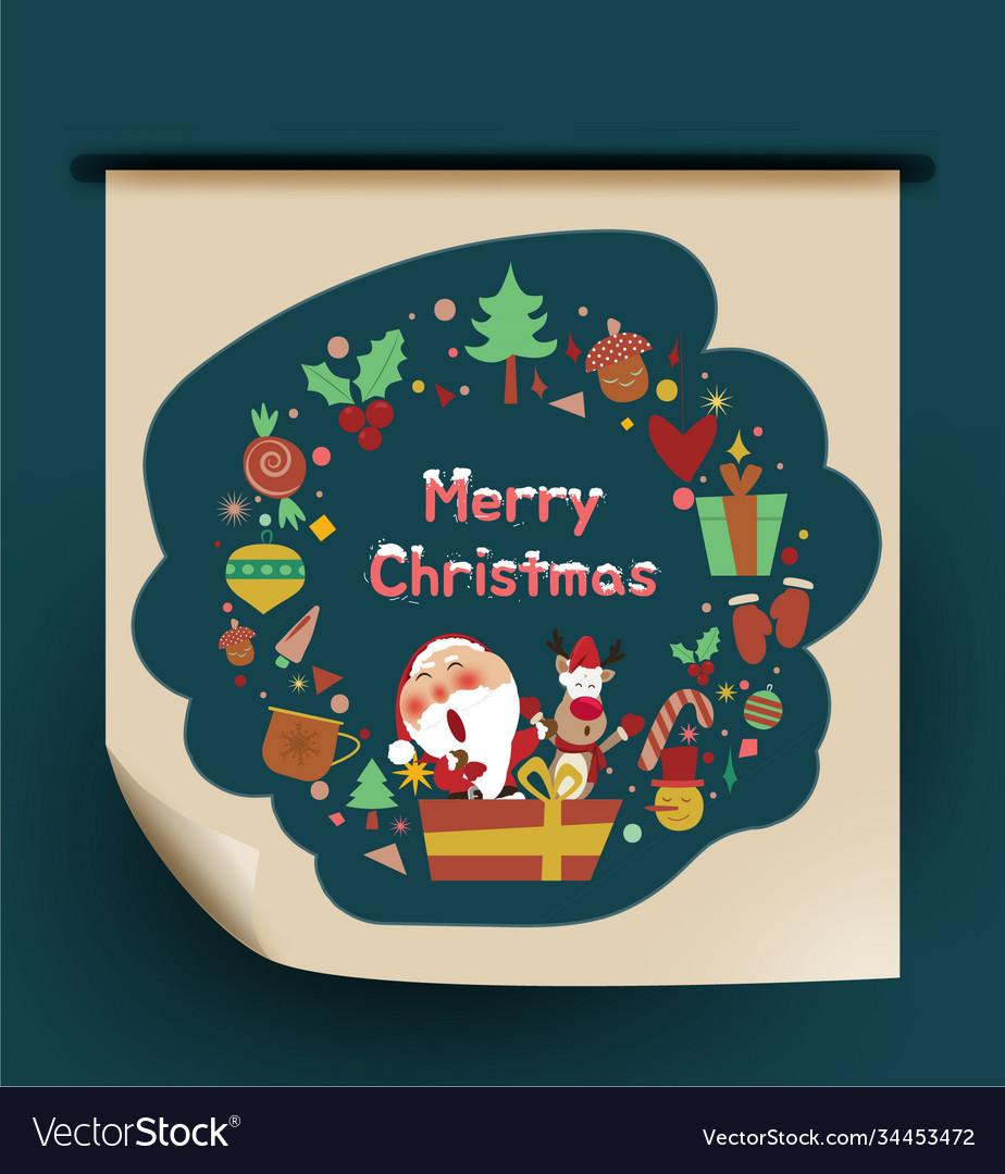 Santa clausreindeer happy holidays warm wishes