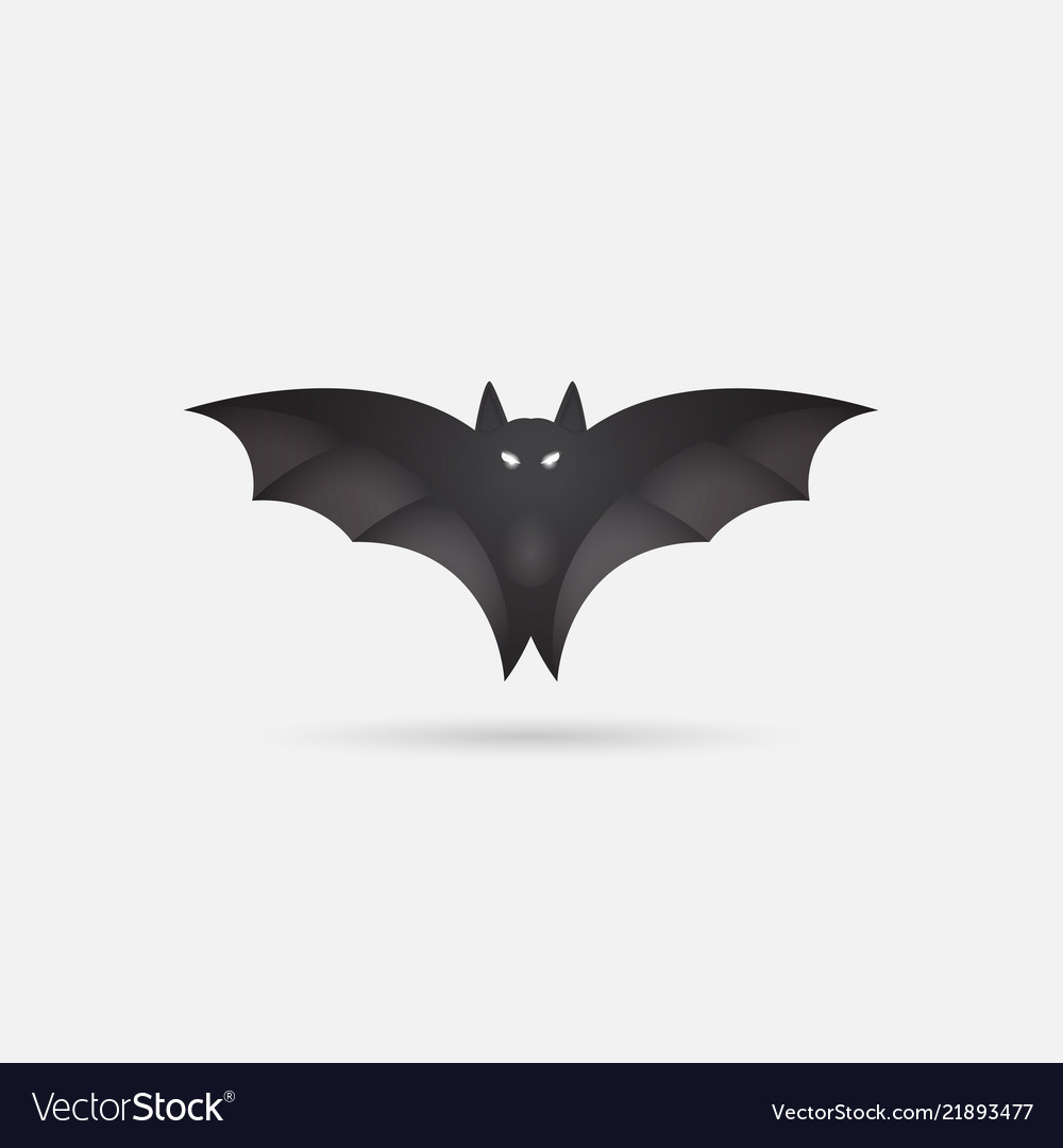 photograph relating to Printable Bat Template named Bat silhouette printable template bat icon