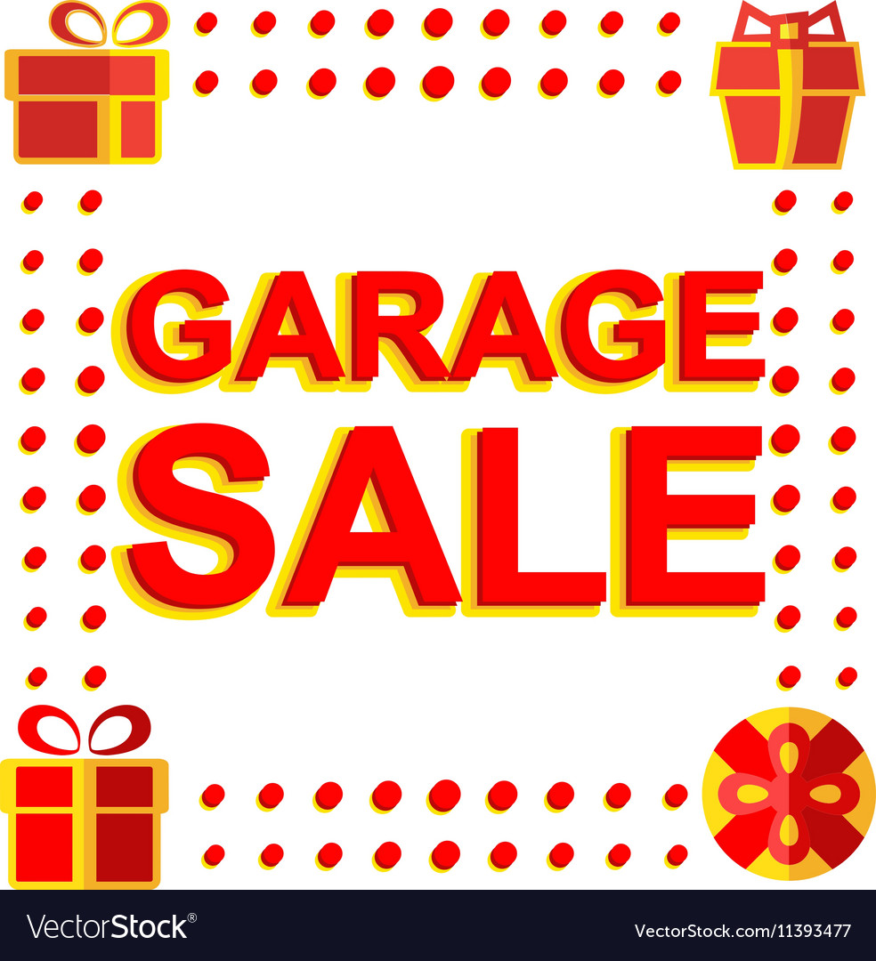 Big winter sale poster with GARAGE SALE text
