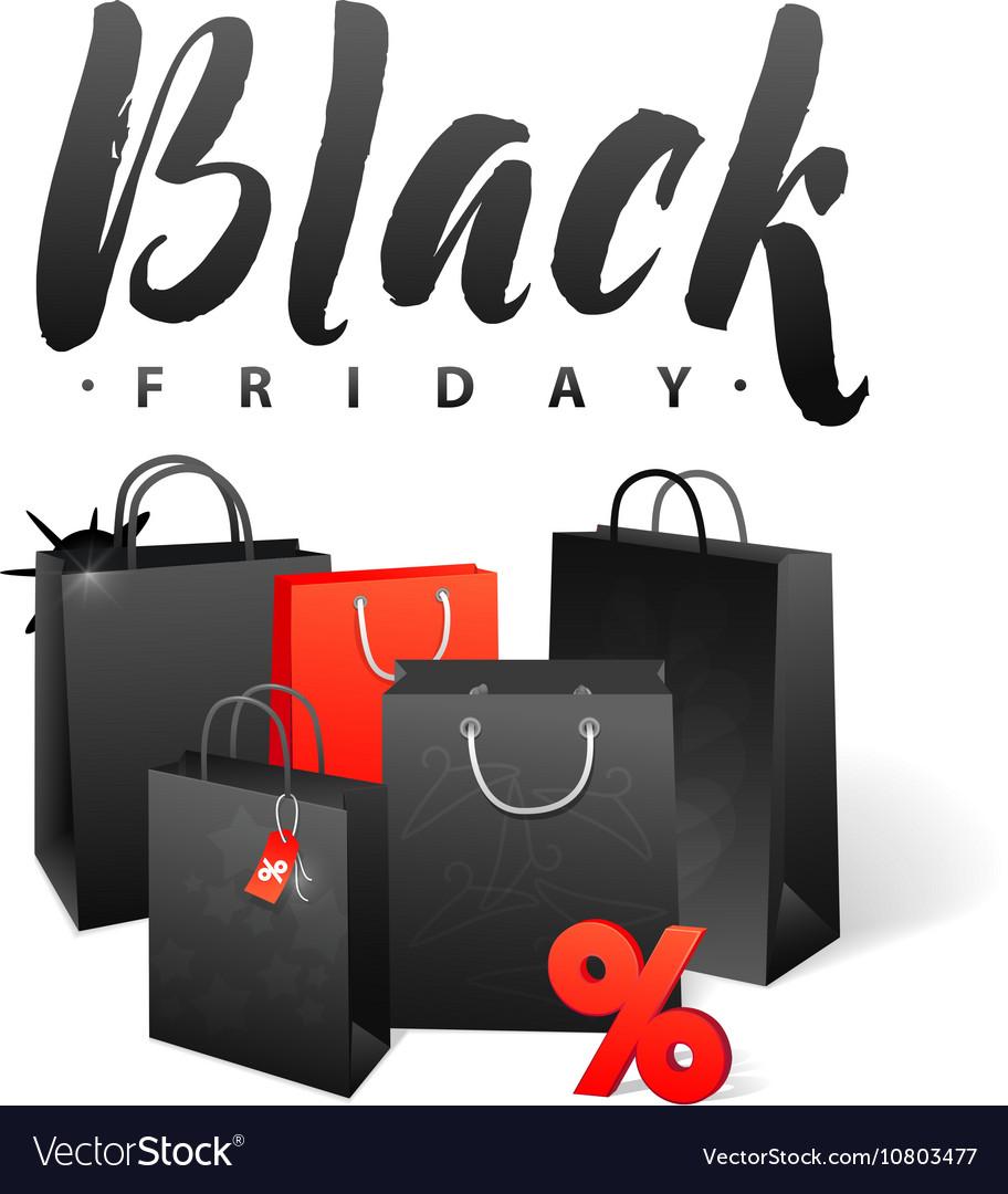 1da5d022b6 Black Friday Sale Shopping Bag Promo Abstract Vector Image