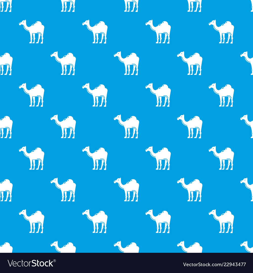 Camel pattern seamless blue