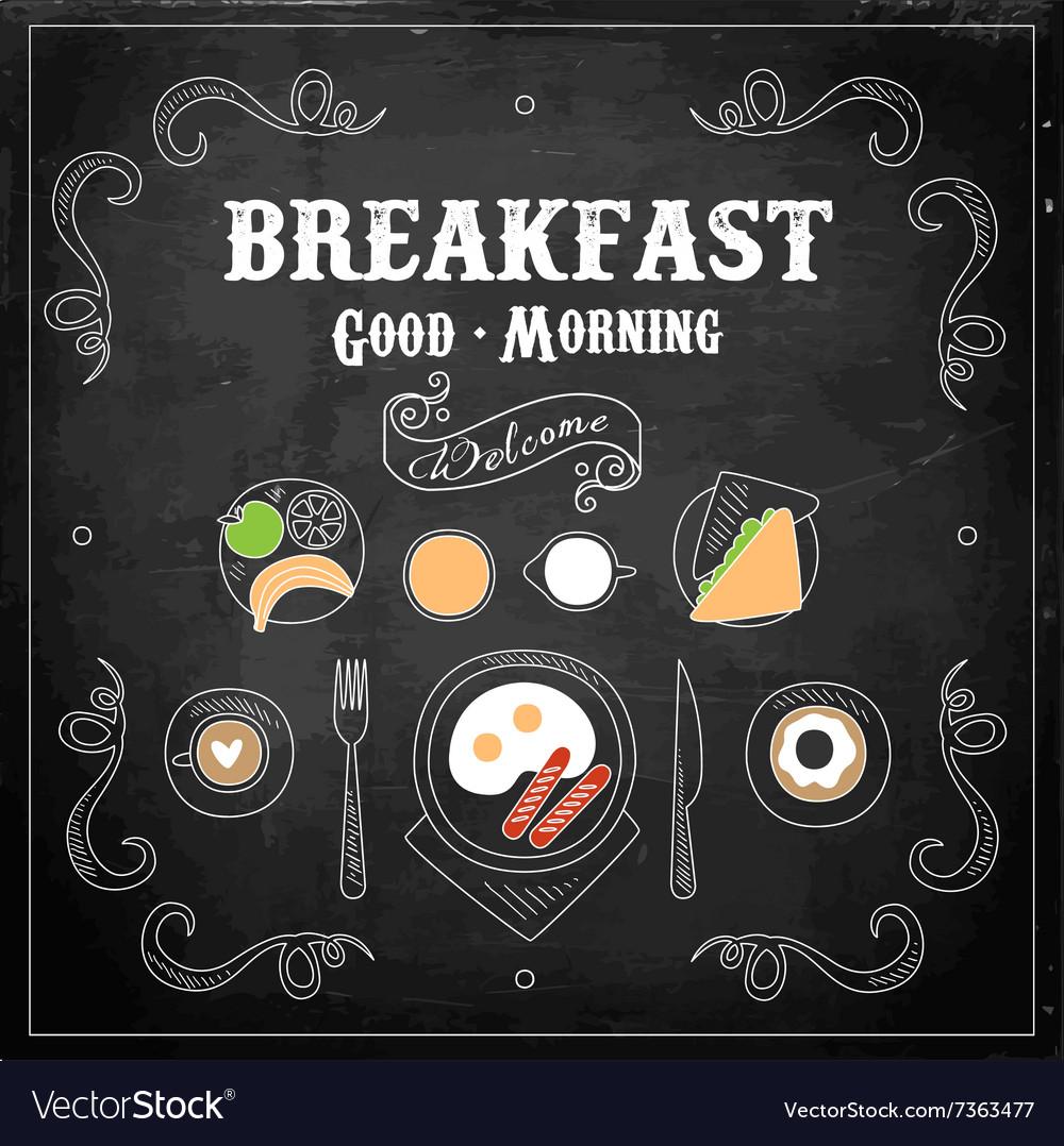 Chalkboard Breakfast Menu