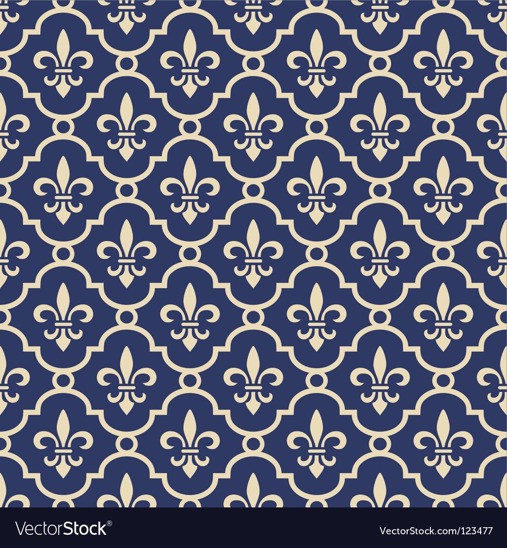 Fleur-de-Lis background Royalty Free Vector Image