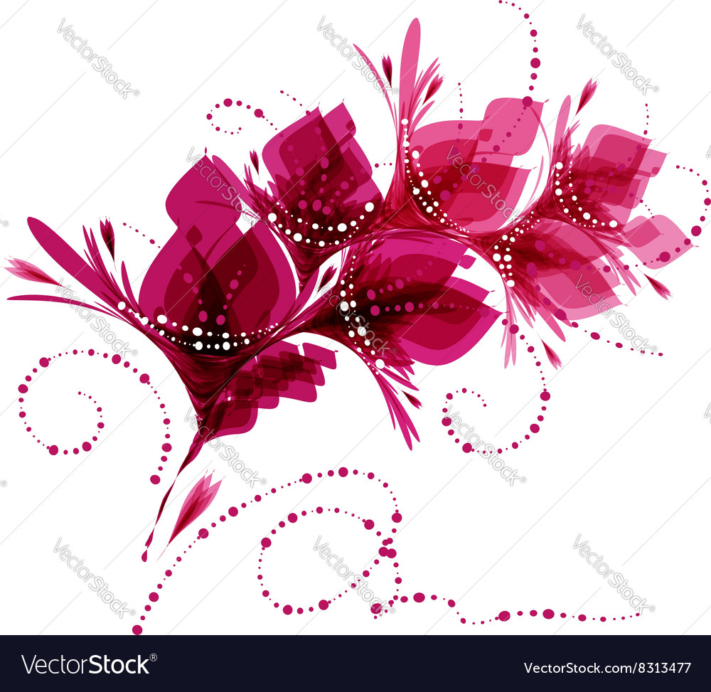 Floral background stylized flowers