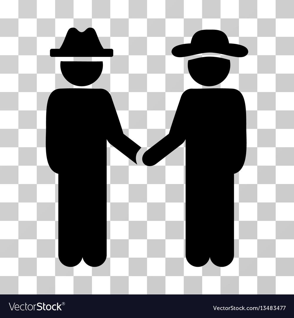 Gentleman handshake icon