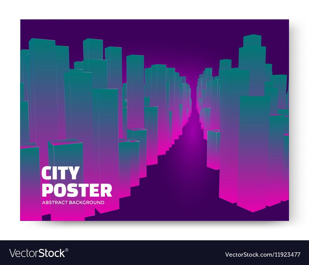 Luminescent city background