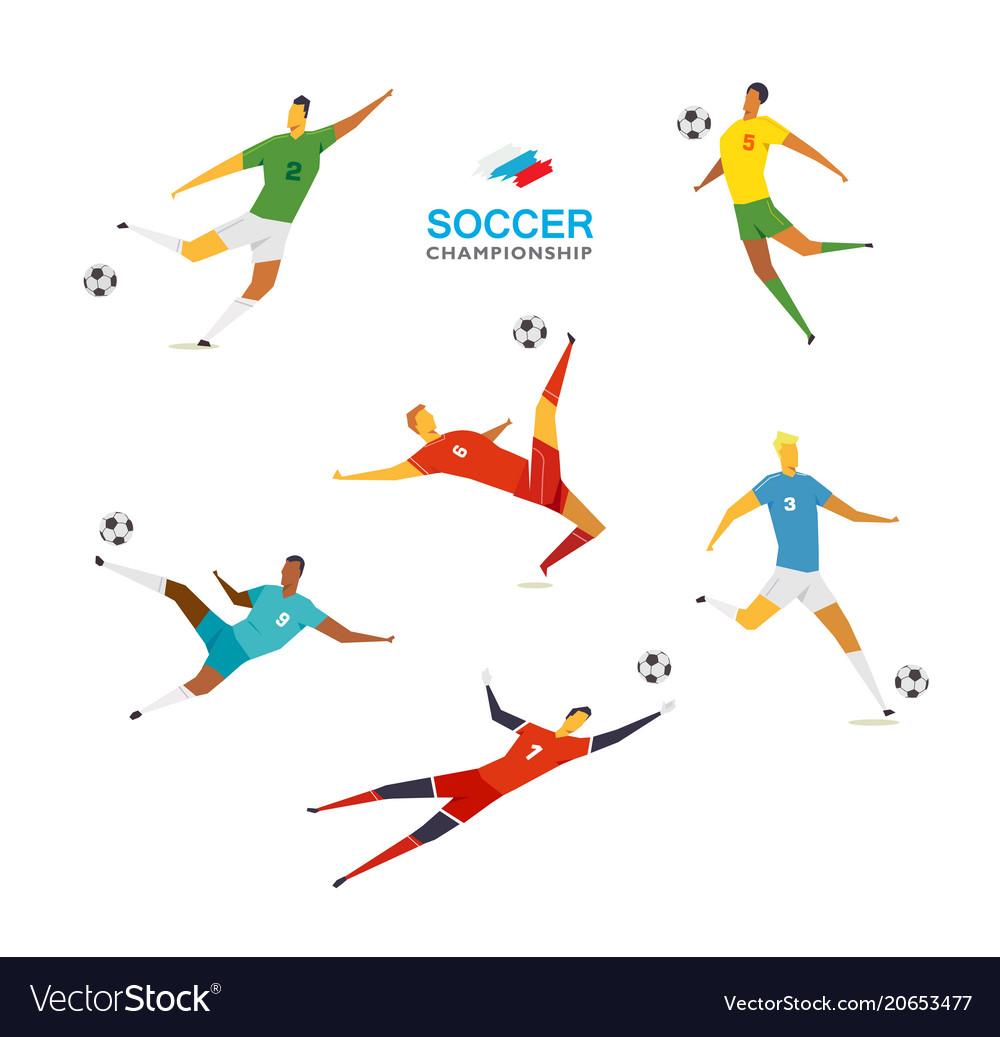 Soccer players set