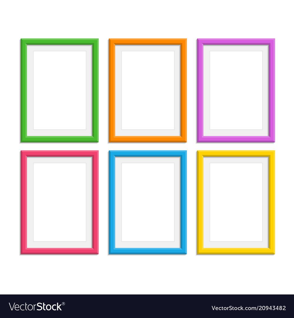 Colored photo frames set