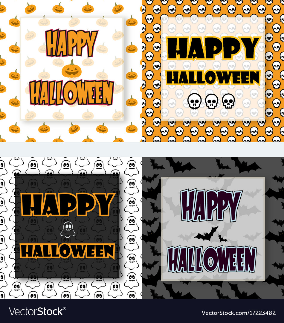 Halloween greetings set vector image