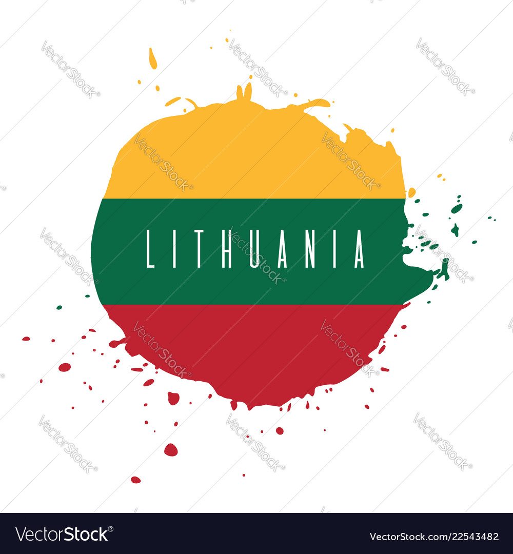 Lithuania watercolor national country flag icon