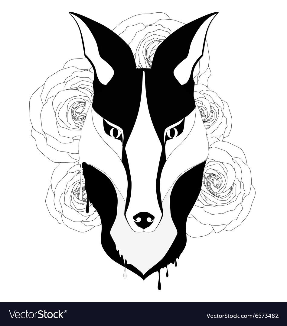 Tattoo style fox