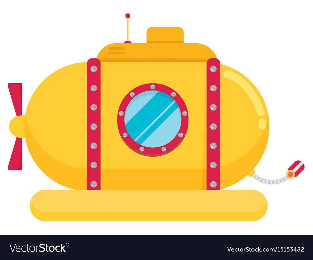 Transportation submarine flat icon