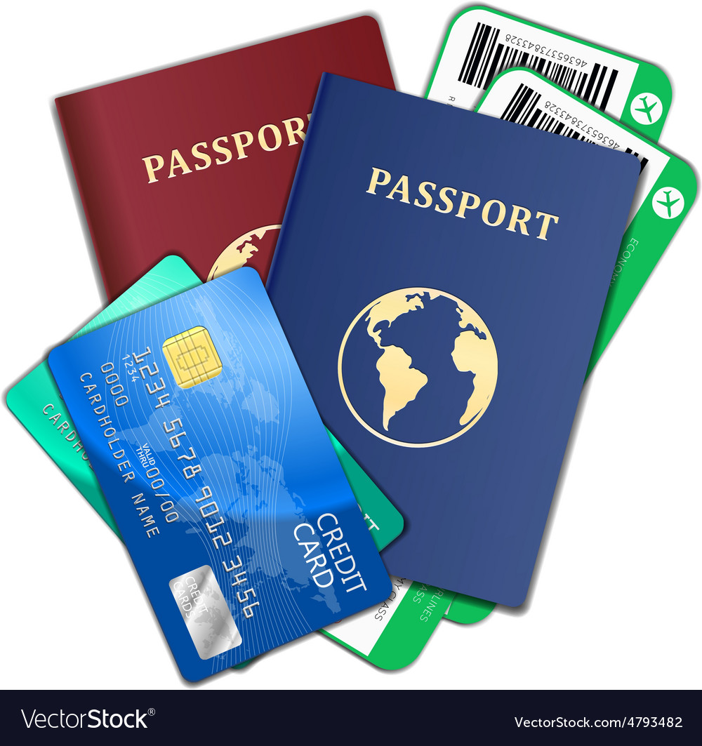 Travel and tourism concept Air tickets passports