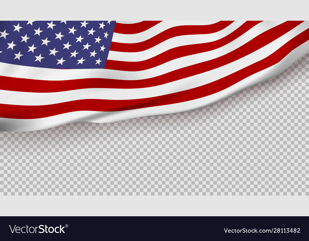 Waving flag united states america