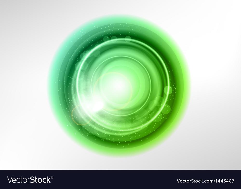 Background green light center star vector image
