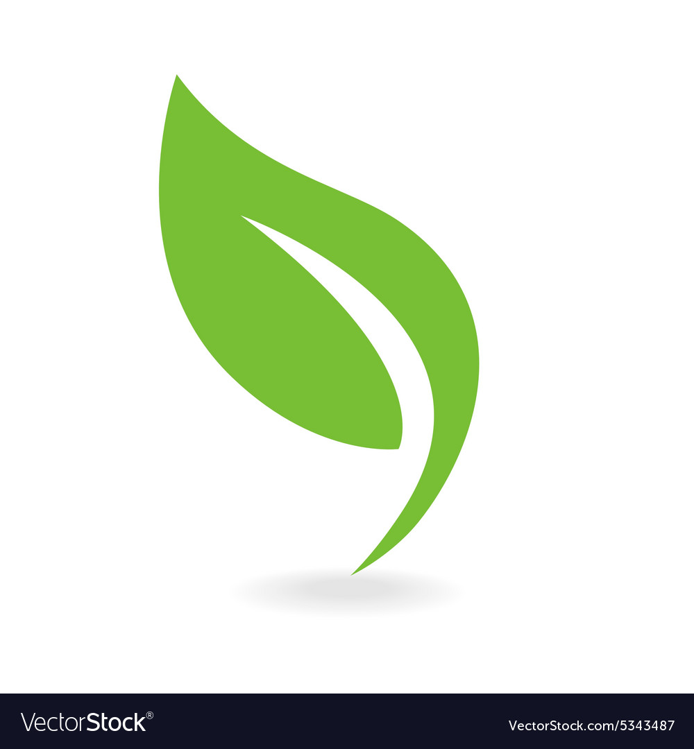 eco icon green leaf royalty free vector image vectorstock rh vectorstock com leaf vector design leaf vector free download