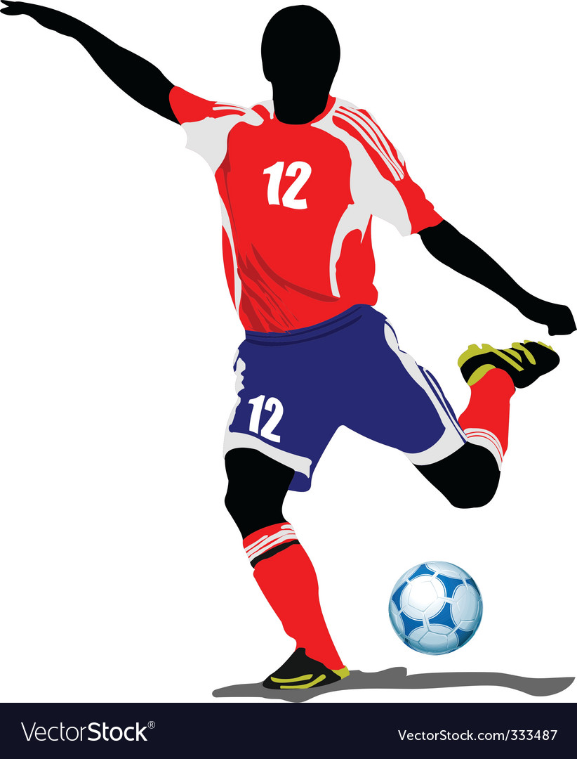 Football Player Royalty Free Vector Image Vectorstock