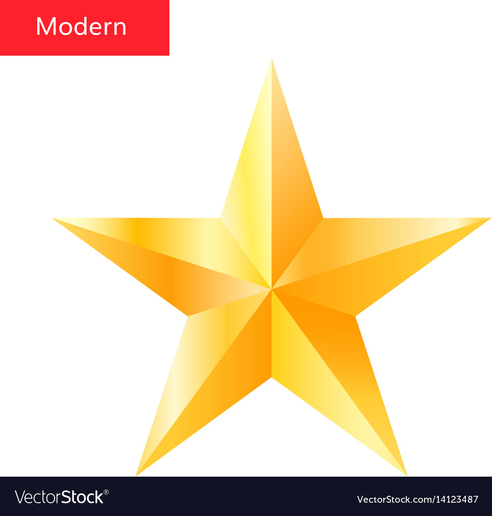 Golden Star High Quality 3d Star Symbol Royalty Free Vector
